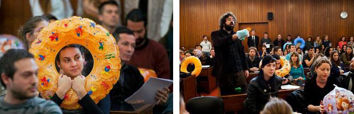 """Durante l'audizione del 5 novembre (foto """"Ne da(vi)mo Beograd"""")"""